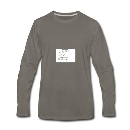 Derp Face! - Men's Premium Long Sleeve T-Shirt