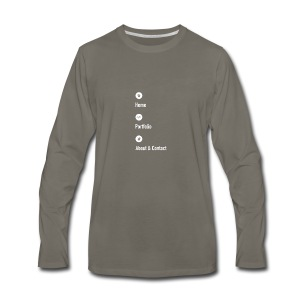 Home - Portfolio - About & Contact 2 - Men's Premium Long Sleeve T-Shirt
