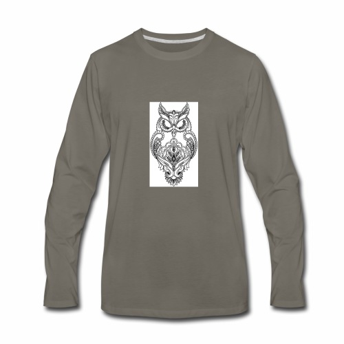owls look - Men's Premium Long Sleeve T-Shirt