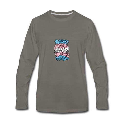 Transgender Crystallized Flag - Men's Premium Long Sleeve T-Shirt
