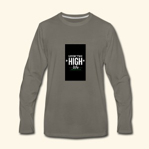 livin the high life - Men's Premium Long Sleeve T-Shirt