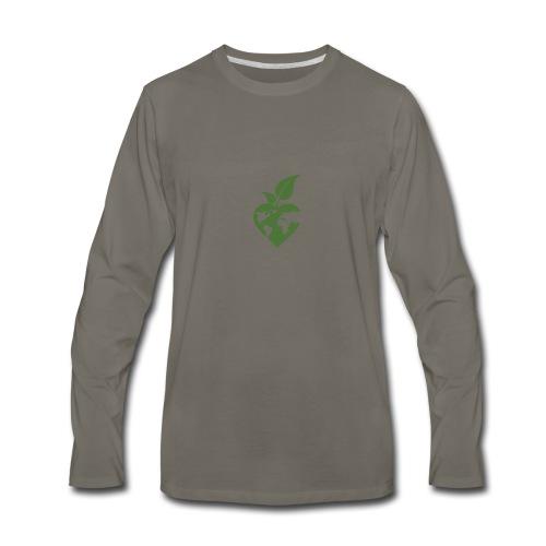 Heart, World, Grow - Men's Premium Long Sleeve T-Shirt