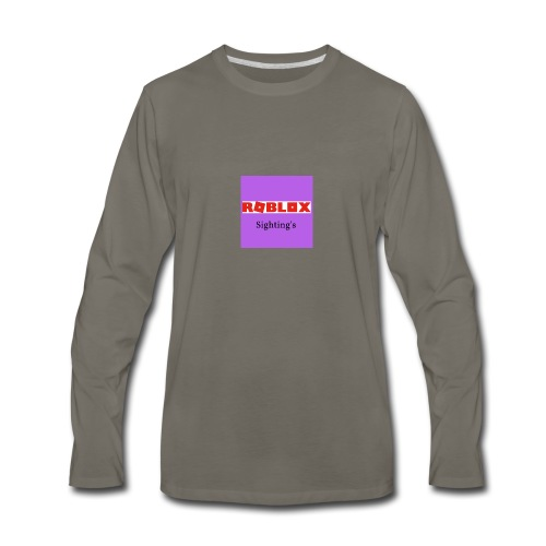 Roblox Sightings MERCH - Men's Premium Long Sleeve T-Shirt