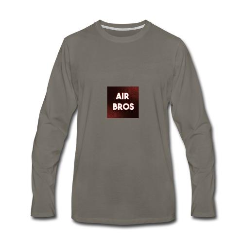 Black merch AIR BROS - Men's Premium Long Sleeve T-Shirt