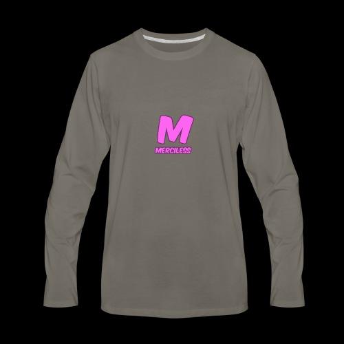 MercilessApparel pink logo - Men's Premium Long Sleeve T-Shirt