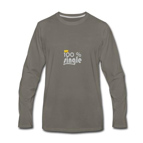 single - Men's Premium Long Sleeve T-Shirt