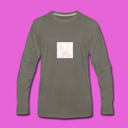 cute flower design - Men's Premium Long Sleeve T-Shirt