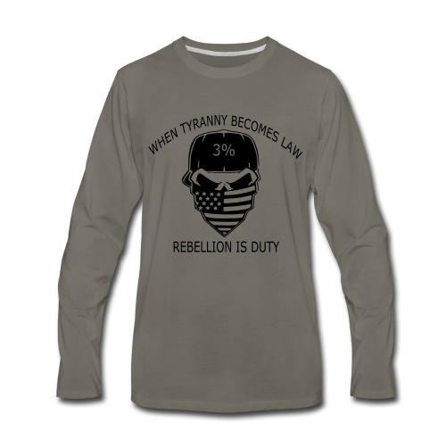 rebellion time - Men's Premium Long Sleeve T-Shirt