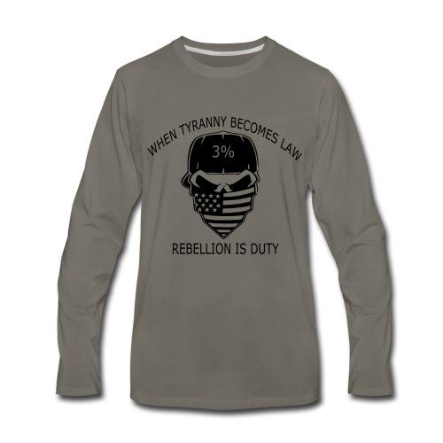 rebellion time - Men's Premium Long Sleeve T-Shirt