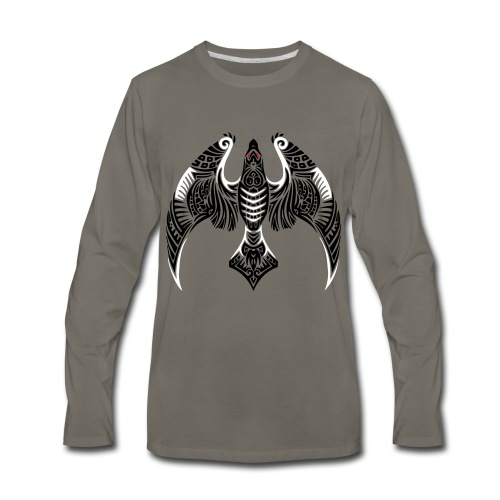 Hawk Totem - Men's Premium Long Sleeve T-Shirt
