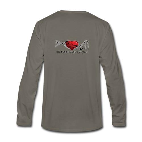Lg transparent logo on back HOH Show Chorus - Men's Premium Long Sleeve T-Shirt