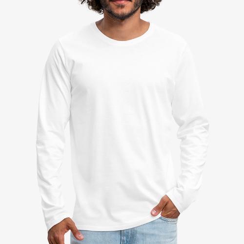 white leaf - Men's Premium Long Sleeve T-Shirt