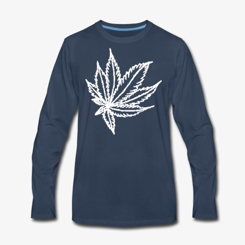white leaf - Men's Premium Long Sleeve T-Shirt