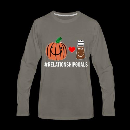 Relationship Goals   Pumpkin Spice Love - Men's Premium Long Sleeve T-Shirt