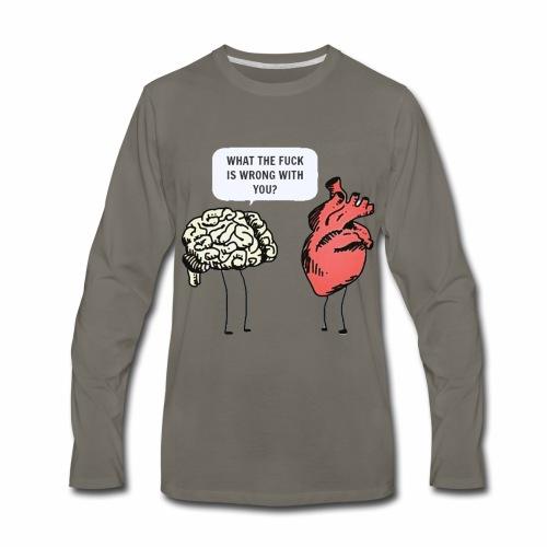 brain vs heart - Men's Premium Long Sleeve T-Shirt