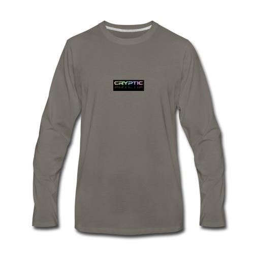 Cryptic Bonus Logo - Men's Premium Long Sleeve T-Shirt