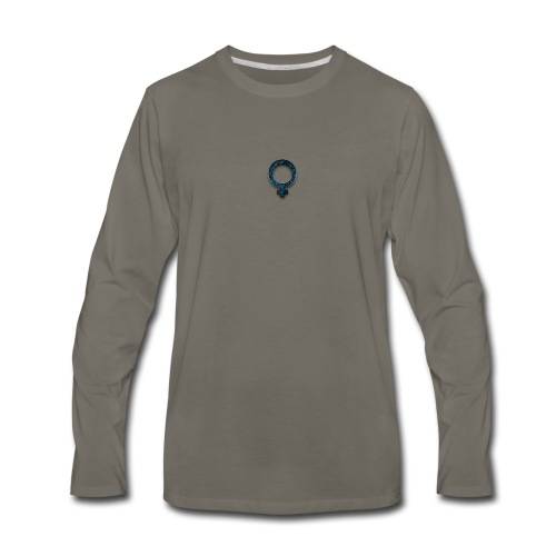 blue retro rusted grunge icon symbols shape - Men's Premium Long Sleeve T-Shirt
