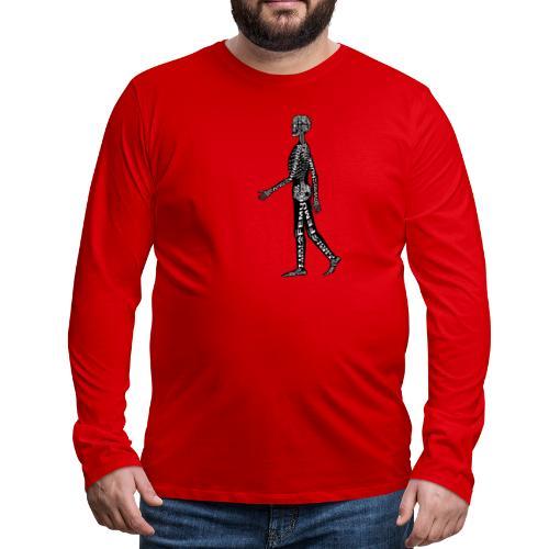Skeleton Human - Men's Premium Long Sleeve T-Shirt