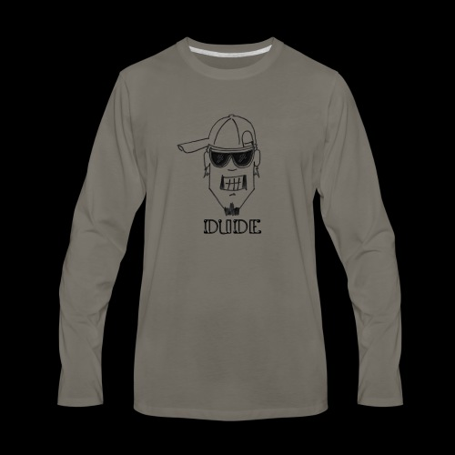 Dude Head 2 - Men's Premium Long Sleeve T-Shirt