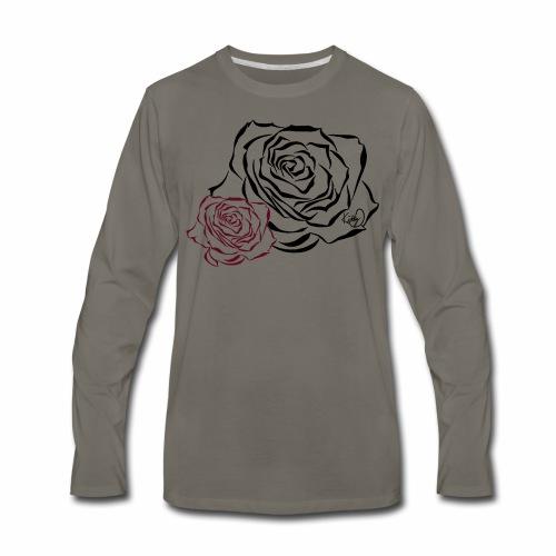 Double Rose - Men's Premium Long Sleeve T-Shirt