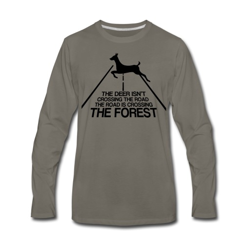 Deer's forest - Men's Premium Long Sleeve T-Shirt