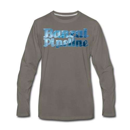 Banzai Pipeline - Ultimate Surfing Waves - Men's Premium Long Sleeve T-Shirt