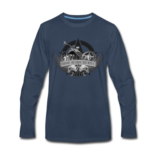 Hardcore. Old School. Deal With It. - Men's Premium Long Sleeve T-Shirt