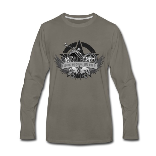 Hardcore. Old School. Deal With It. - Men's Premium Long Sleeve T-Shirt