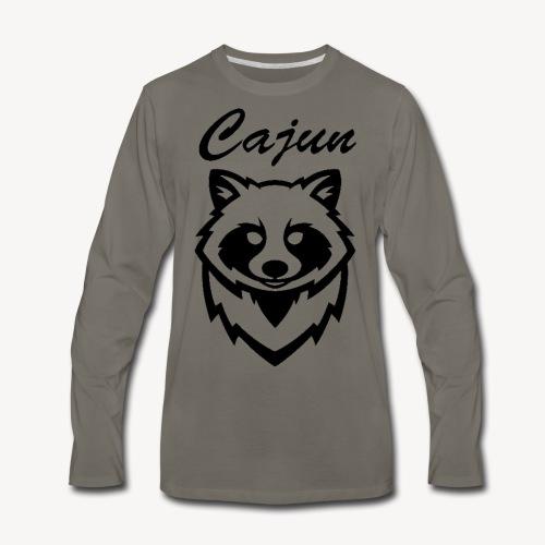 see throw cajun coon icon - Men's Premium Long Sleeve T-Shirt