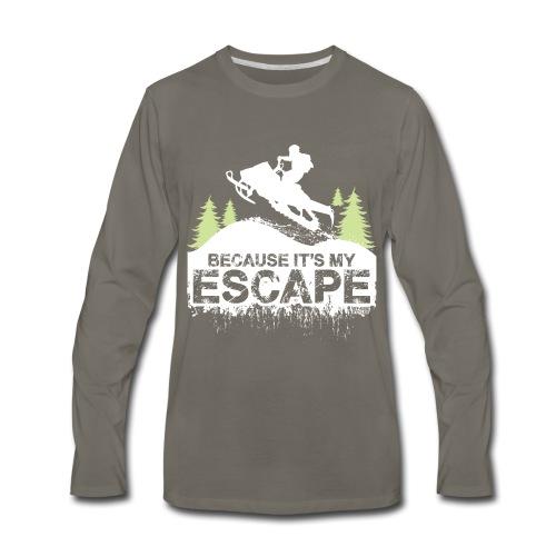 Snowmobile Because Escape - Men's Premium Long Sleeve T-Shirt