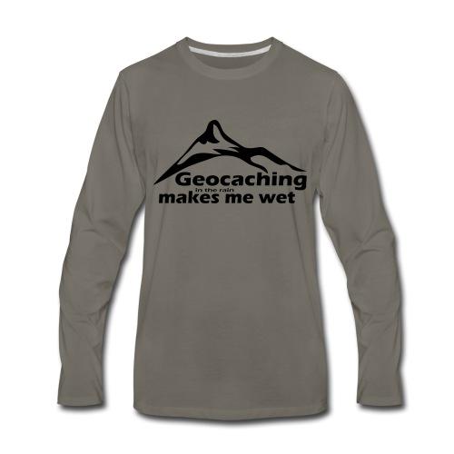 Wet Geocaching - Men's Premium Long Sleeve T-Shirt