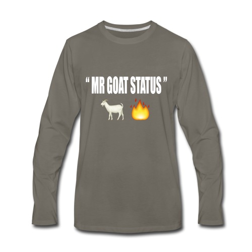GOAT STATUS SHIRTS - Men's Premium Long Sleeve T-Shirt
