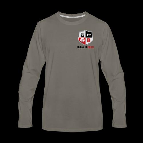 Break To Build Crest & Text - Men's Premium Long Sleeve T-Shirt