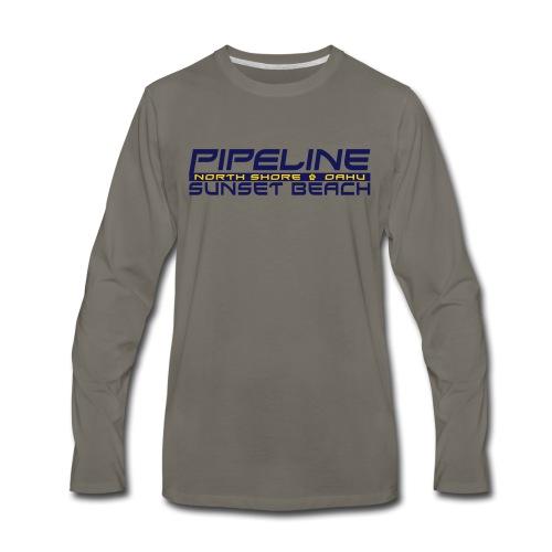 Pipeline Sunset Beach - North Shore, Oahu, Hawaii - Men's Premium Long Sleeve T-Shirt