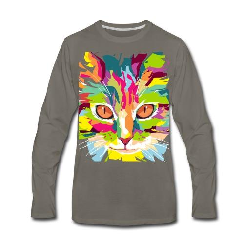 Cat Art Work - Men's Premium Long Sleeve T-Shirt
