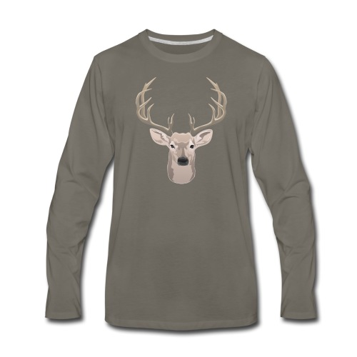 Beautiful buck with big antlers - Men's Premium Long Sleeve T-Shirt
