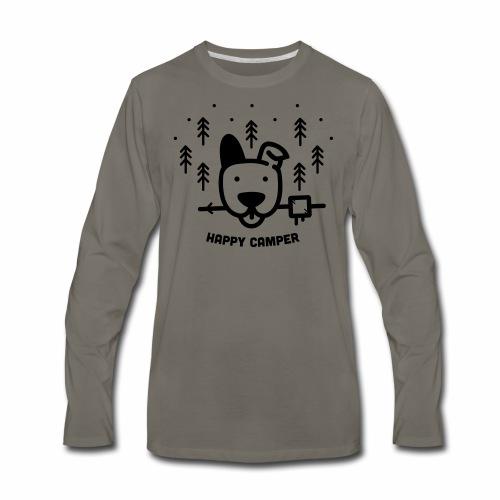 Happy Camping Dog - Men's Premium Long Sleeve T-Shirt