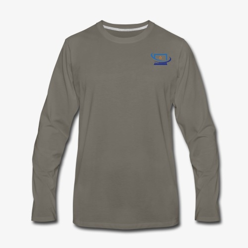 Techbay Logo - Men's Premium Long Sleeve T-Shirt