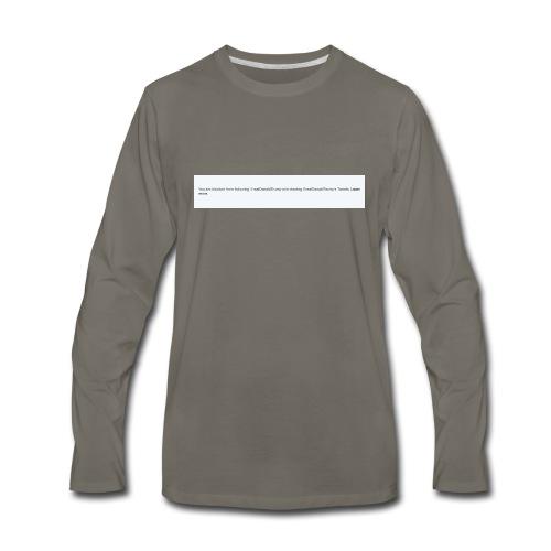 Blocked by Donald Trump on Twitter - Men's Premium Long Sleeve T-Shirt