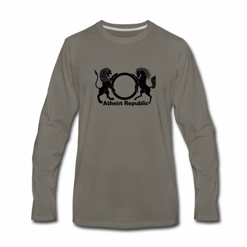 Atheist Republic Logo - Black - Men's Premium Long Sleeve T-Shirt