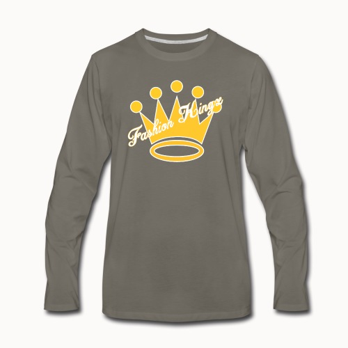 Fashion Kingz Clothing Official Crown Logo - Men's Premium Long Sleeve T-Shirt