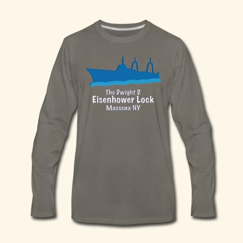 Eisenhower Lock Blue - Men's Premium Long Sleeve T-Shirt