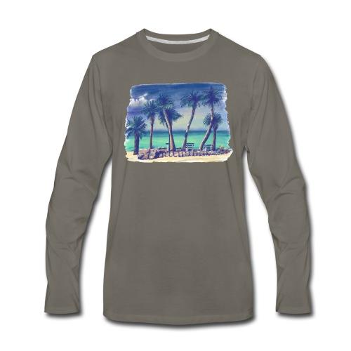 Oasis beach - Men's Premium Long Sleeve T-Shirt