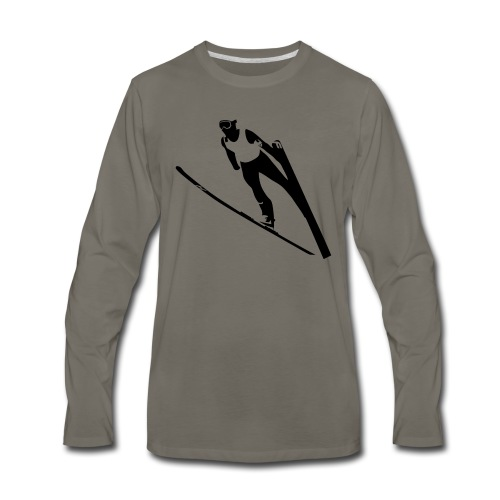 Ski Jumper - Men's Premium Long Sleeve T-Shirt