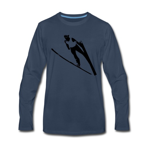 Ski Jumper - Men's Premium Long Sleeve T-Shirt
