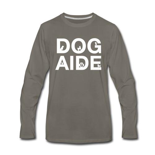 dog aide NEW white - Men's Premium Long Sleeve T-Shirt