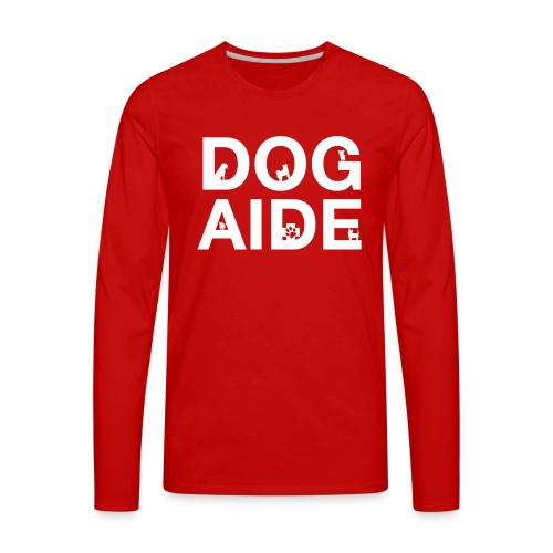 dog aide NEW white - Men's Premium Long Sleeve T-Shirt