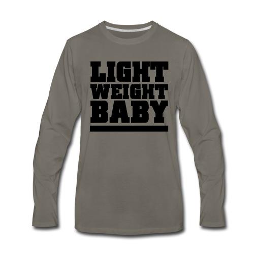 Light Weight Baby Gym Motivation - Men's Premium Long Sleeve T-Shirt