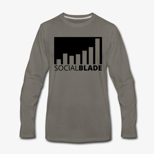 SB Blackout Logo - Men's Premium Long Sleeve T-Shirt