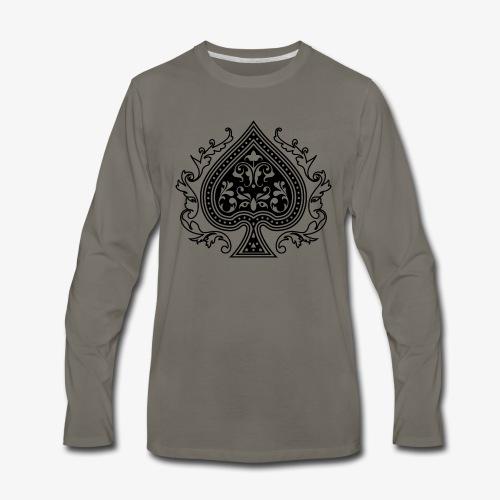 Ace Spade 02 Black - Men's Premium Long Sleeve T-Shirt